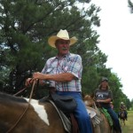 Jimmy Ramsey enjoying his ride w the Best of America By Horseback TV Show June 2013